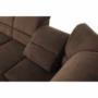 Kép 16/22 - SANTIAGO Ülőgarnitúra ágyfunkcióval - barna szövet,  jobb oldali kivitel