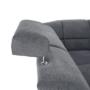 Kép 30/32 - SANTIAGO Szövet ülőgarnitúra ágyfunkcióval és ágyneműtartóval,bal oldali kivitel
