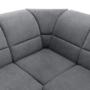 Kép 27/32 - SANTIAGO Kinyitható ülőgarnitúra - szürke szövet,  jobbos