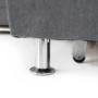 Kép 28/32 - SANTIAGO Kinyitható ülőgarnitúra - szürke szövet,  jobbos
