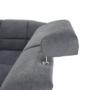 Kép 29/32 - SANTIAGO Kinyitható ülőgarnitúra - szürke szövet,  jobbos