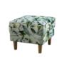 Kép 5/5 - ASTRID Fotel + puff,zöld leveles minta,  Fotel + puff,zöld leveles minta