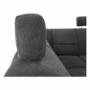 Kép 25/27 - SANTIAGO Ülőgarnitúra - bal oldali kivitel,  fekete textilbőr/sötétszürke szövet [U]