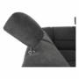 Kép 27/27 - SANTIAGO Ülőgarnitúra - bal oldali kivitel,  fekete textilbőr/sötétszürke szövet [U]