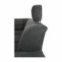 Kép 23/27 - SANTIAGO Ülőgarnitúra - jobb oldali kivitel,  fekete textilbőr /szürke szövet [U]