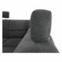 Kép 24/27 - SANTIAGO Ülőgarnitúra - jobb oldali kivitel,  fekete textilbőr /szürke szövet [U]