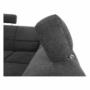 Kép 25/27 - SANTIAGO Ülőgarnitúra - jobb oldali kivitel,  fekete textilbőr /szürke szövet [U]