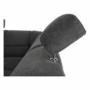 Kép 26/27 - SANTIAGO Ülőgarnitúra - jobb oldali kivitel,  fekete textilbőr /szürke szövet [U]