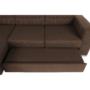 Kép 11/29 - CHRIS Sarok ülőgarnitúra,  barna / bézs