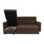 Kép 23/29 - CHRIS Sarok ülőgarnitúra,  barna / bézs
