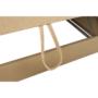 Kép 17/22 - VACO Ülőgarnitúra - sarok - kinyitható - J változat,  bőr + műbőr karamell