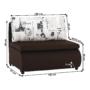 Kép 14/21 - KENY Fotel ágyfunkcióval és ágyneműtartóval,  barna/minta Paris 3