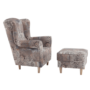 Kép 12/12 - szövet TV fotel puffal,  TV fotel puffal [vintage 1026 barna,ASTRID]
