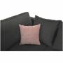 Kép 18/27 - KASTOR U alakú ülőgarnitúra - textilbőr fehér/ szövet szürke / pasztell rózsaszín,  bal oldali kivietl