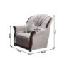 Kép 4/5 - METY Ágyazható ülőgarnitúra,szürke szövet,  Ágyazható ülőgarnitúra,szürke szövet