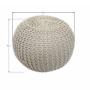 Kép 3/10 - GOBI Kötött puff krém színű pamut,  Kötött puff krém színű pamut [TIP 1]