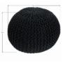 Kép 4/14 - GOBI Kötött puff fekete pamut,  Kötött puff fekete pamut [TIP 2]