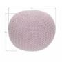 Kép 2/16 - GOBI Kötött puff púderrózsaszín pamut,  Kötött puff púderrózsaszín pamut [TIP 2]