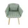 Kép 9/13 - DIPSY Dizájn fotel,  zöld minta