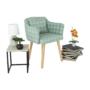 Kép 10/13 - DIPSY Dizájn fotel,  zöld minta