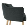Kép 9/15 - DIPSY Dizajnové fotel,  szürke anyag/fa