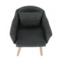Kép 13/15 - DIPSY Dizajnové fotel,  szürke anyag/fa