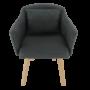 Kép 14/15 - DIPSY Dizajnové fotel,  szürke anyag/fa