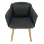 Kép 15/15 - DIPSY Dizajnové fotel,  szürke anyag/fa