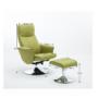 Kép 9/30 - LONATO Fotel zsámollyal,  zöld szín