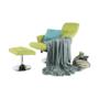 Kép 12/30 - LONATO Fotel zsámollyal,  zöld szín