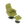 Kép 22/30 - LONATO Fotel zsámollyal,  zöld szín