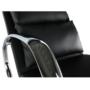 Kép 11/13 - ökobőr Hinta fotel,  Hinta fotel [fekete/króm,DORA]