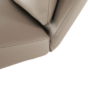 Kép 12/17 - DORA Hinta fotel,  ökobőr capuccino/króm
