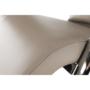 Kép 13/17 - DORA Hinta fotel,  ökobőr capuccino/króm