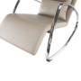 Kép 14/17 - DORA Hinta fotel,  ökobőr capuccino/króm