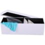 Kép 10/11 - ZAMIRA Összehajtható puff,  fehér műbőr
