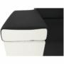 Kép 11/22 - MARBELA Sarokülőgarnitúra - fehér/fekete,  balos