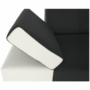 Kép 14/22 - MARBELA Sarokülőgarnitúra - fehér/fekete,  balos