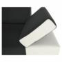 Kép 4/22 - fehér/fekete MARBELA 2+3 sarokülőgarnitúra,  jobb oldali változat
