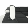 Kép 9/22 - fehér/fekete MARBELA 2+3 sarokülőgarnitúra,  jobb oldali változat