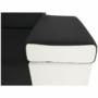 Kép 21/22 - fehér/fekete MARBELA 2+3 sarokülőgarnitúra,  jobb oldali változat