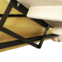 Kép 18/34 - MARIETA Luxus ülőgarnitúra - jobbos kivitel,  sárga/barna párnák [U]