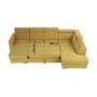 Kép 33/34 - MARIETA Luxus ülőgarnitúra - jobbos kivitel,  sárga/barna párnák [U]