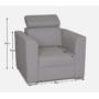 Kép 3/4 - MARIETA Fotel rendelésre a luxus ülőgarnitúrához,  bézs