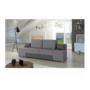 Kép 2/4 - ATLANTICO Kinyitható kanapé,  szövet szürke/műbőr szürke