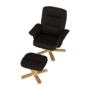Kép 3/24 - LERATO Pihenő fotel lábtámasszal,  cappucino
