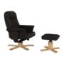 Kép 10/24 - LERATO Pihenő fotel lábtámasszal,  cappucino