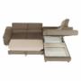 Kép 21/22 - LEGAS Sarokülőgarnitúra ágyfunkcióval - barna,  jobbos