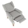 Kép 24/30 - ARMIN Pozícionáló fotel bézs/anyag/fa,  Pozícionáló fotel bézs/anyag/fa