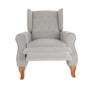 Kép 25/30 - ARMIN Pozícionáló fotel bézs/anyag/fa,  Pozícionáló fotel bézs/anyag/fa